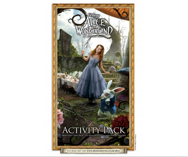 Alice in Wonderland Activity Pack cover