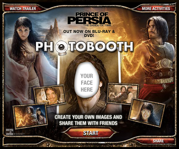 Prince of Persia Photo booth app