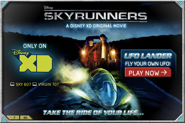 Skyrunners game title screen